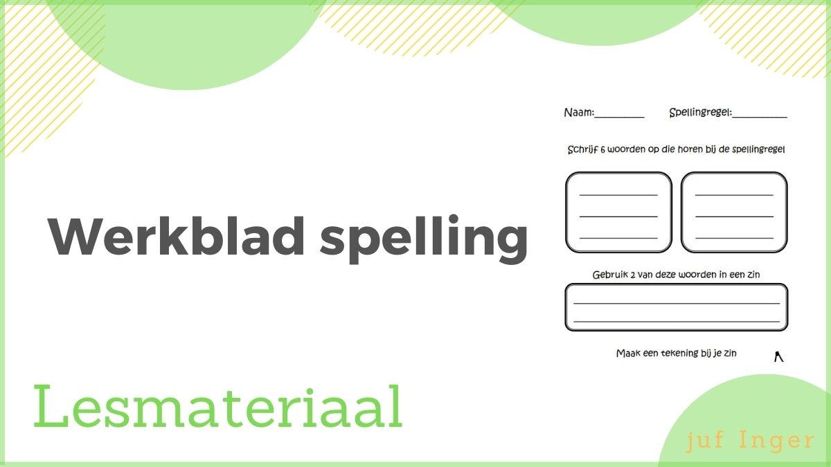 werkblad spelling
