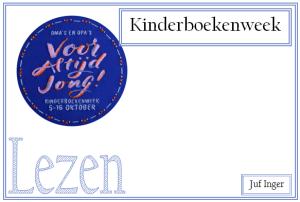 Kinderboekenweek 2016 - juf Inger