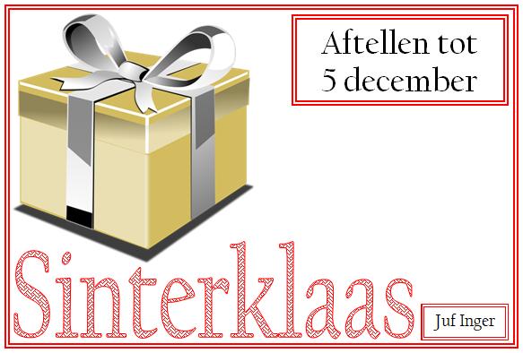 Geliefde Aftellen tot 5 december - Juf Inger YX13