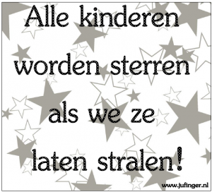 alle kinderen worden sterren - juf Inger