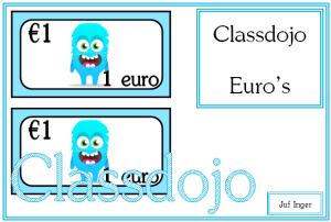 classdojo euro's - juf Inger