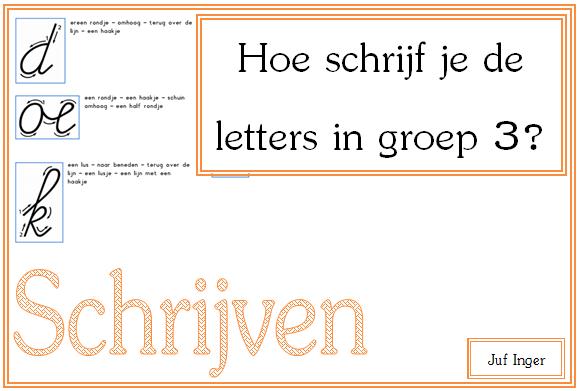Uitgelezene Hoe schrijf je de letters in groep 3? - Juf Inger UY-52
